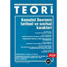 Kemalist Devrimin Tarihsel ve Sınıfsal Karakteri